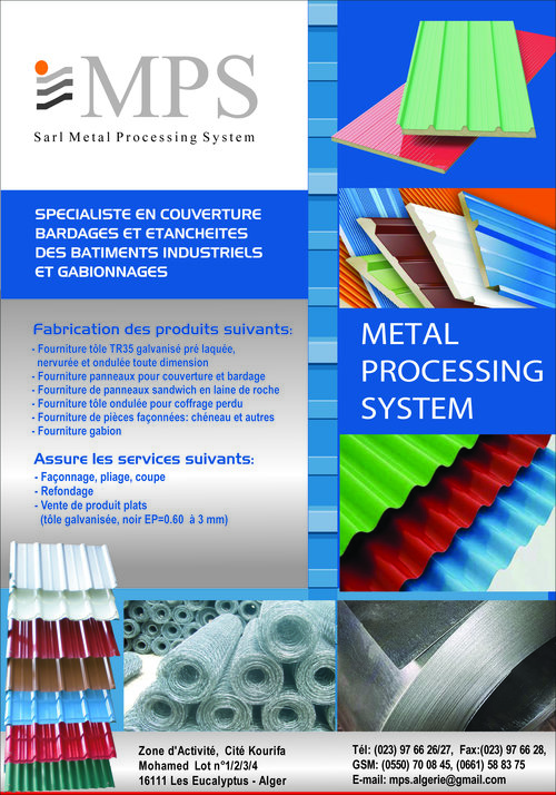 MPS Metal Processing System,Sarl